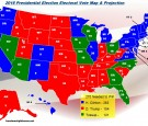 Freedom's Lighthouse Electoral Vote Map Projections for the 2016 General Elections -  As of 9/2/2016
