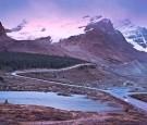Athabasca Glacier, Canadian Rockies, at nightfall