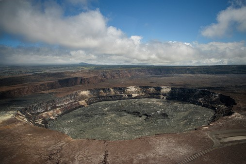Volcanic Crater of Kilauea, Hawaii