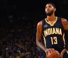OAKLAND, CA - DECEMBER 5: Paul George #13 of the Indiana Pacers shoots a free throw during the game against Golden State Warriors on December 5, 2016 at ORACLE Arena in Oakland, California. NOTE TO USER: User expressly acknowledges and agrees that, by dow