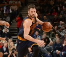 TORONTO, CANADA - DECEMBER 5: Kevin Love #0 of the Cleveland Cavaliers handles the ball during a game against the Toronto Raptors on December 5, 2016 at the Air Canada Centre in Toronto, Ontario, Canada. NOTE TO USER: User expressly acknowledges and agree