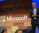 Microsoft CEO Satya Nadella addresses shareholders during the 2016 Microsoft Annual Shareholders Meeting at the Meydenbauer Center November 30, 2016, 2016 in Bellevue, Washington.