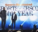 LeBron James and Jay Z speak onstage during the Sports Illustrated Sportsperson of the Year Ceremony 2016