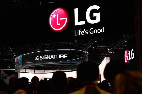 Attendees walk through the LG booth at CES 2016 at the Las Vegas Convention Center on January 6, 2016 in Las Vegas, Nevada