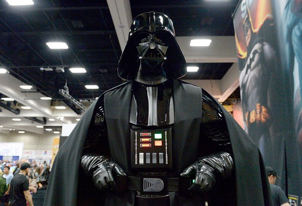 Darth Vader cosplayer attends Comic-Con International 2016 preview night on July 20, 2016 in San Diego, California.