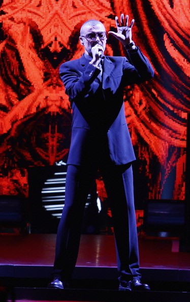 Singer George Michael performs at Mediolanum Forum on November 11, 2011 in Milan, Italy.