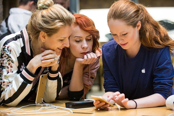 Customers visit Apple Covent Garden for the iPhone 7 and Apple Watch Series 2 at Covent Garden on September 16, 2016 in London, England.
