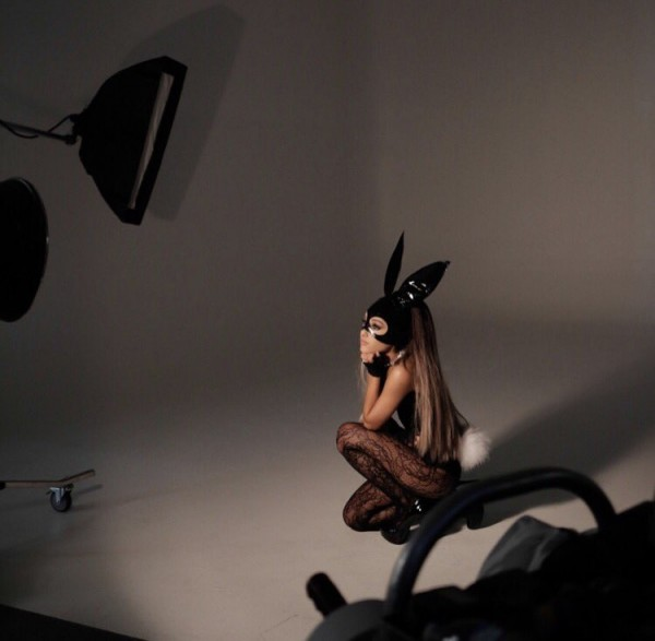 "Ariana Grande in her ""Dangerous Woman"" costume"