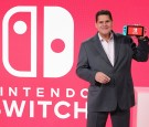 In this photo provided by Nintendo of America, Nintendo of America President and COO Reggie Fils-Aime debuts the groundbreaking Nintendo Switch at a press event in New York on Jan. 13, 2017.