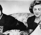 German dictator Adolf Hitler (1889 - 1945) and his mistress Eva Braun (1912 -1945)