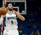 Ricky Rubio #9 of the Minnesota Timberwolves looks to pass the ball against the Charlotte Hornets during the game on November 15, 2016 at Target Center in Minneapolis, Minnesota.