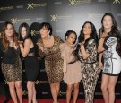 Khloe Kardasian, Kylie Jenner, Kris Kardashian, Kourtney Kardashian, Kim Kardashian, and Kendall Jenner attend the Kardashian Kollection Launch Party at The Colony on August 17, 2011 in Hollywood, Ca.