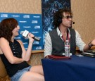 SAN DIEGO, CA - JULY 26: Team Unicorn member Alison Haislip (L) and radio personality Ralph Cirella attend Howard Stern's 'Geektime' Live Broadcast from Comic-Con 2014 at Hilton Bayfront on July 26, 2014 in San Diego, California