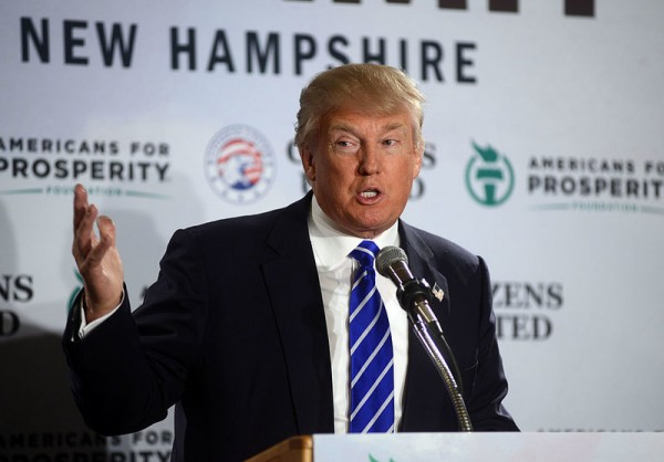 Donald Trump speaks at the Freedom Summit at The Executive Court Banquet Facility April 12, 2014 in Manchester, New Hampshire.