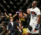 Anderson Silva of Brazil reacts after his win by unanimous decision against Derek Brunson of United States in their middleweight bout during UFC 208 at the Barclays Center on February 11, 2017.