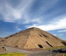 A general view of the site of the ancient Sun Pyramid at the Teotihuacan Citadel outside of Mexico City during the Gran Premio Gigante-Telmex