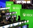 Gamers play video games in the Microsoft Corp. Xbox booth during the annual E3 2016 gaming conference at the Los Angeles Convention Center on June 14, 2016 in Los Angeles, California.