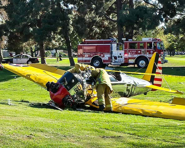 Harrison Ford Crashes His Vintage Airplane