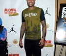 Professional basketball player Carmelo Anthony attends the 'Alvin And The Chipmunks: The Road Chip' New York Screening at Regal E-Walk on December 15, 2015 in New York City.