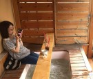 Cafe with a footbath in Tokyo