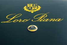 The logo of a Lotus Loro Piana is seen parked in the Autodromo Nazionale Monza during the 8th Edition Of Coppa Milano - Sanremo Classic Cars Race on March 12, 2010 in Monza, Italy.