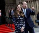 Prince William, Duke of Cambridge and Catherine, Duchess of Cambridge leave Manchester Town Hall