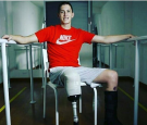 Jackson Follman is determined to join the paralympic games with his artificial limb.