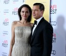 Writer-director-producer-actress Angelina Jolie Pitt (L) and actor-producer Brad Pitt attend Audi at the opening night gala premiere of 'By the Sea' during AFI FEST 2015