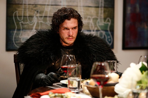 LATE NIGHT WITH SETH MEYERS -- Episode 0188 -- Pictured: Kit Harrington as Jon Snow during the 'Game of Thrones' skit on April 2, 2015.