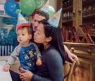 Mark Zuckerberg and Priscilla Chan with baby Max
