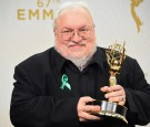 Writer George R. R. Martin, winner of Outstanding Drama Series for 'Game of Thrones', poses in the press room at the 67th Annual Primetime Emmy Awards at Microsoft Theater on September 20, 2015 in LA.