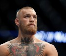 Conor McGregor waits for the start of his welterweight rematch against Nate Diaz at the UFC 202 event at T-Mobile Arena on August 20, 2016 in Las Vegas, Nevada.