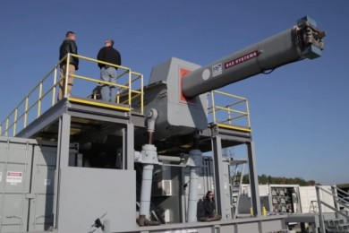 Electromagnetic Railgun - First shot at Dahlgren's new Terminal Range