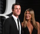 Actors Justin Theroux and Jennifer Aniston attend the 2017 Vanity Fair Oscar Party hosted by Graydon Carter at Wallis Annenberg Center for the Performing Arts on February 26, 2017 in Beverly Hills, Ca