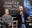Producer Jon Landau (L) and director James Cameron (R) attend the 20th Century Fox & Earth Day Network's 'Avatar' Tree Planting Event on April 22, 2010 in Los Angeles, California.