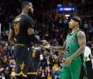 LeBron James and Isaiah Thomas Shaking hands Before the Game