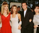 The cast of the hit US TV show 'Friends' from L to R