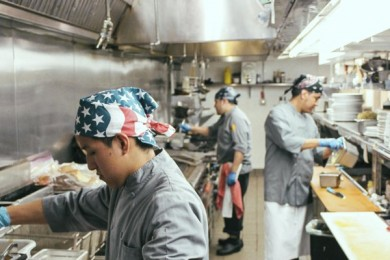 ICE agents raid kitchen and arrest workers after eating breakfast at restaurant