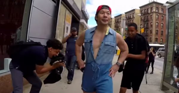 QPark Wearing Romper in NYC