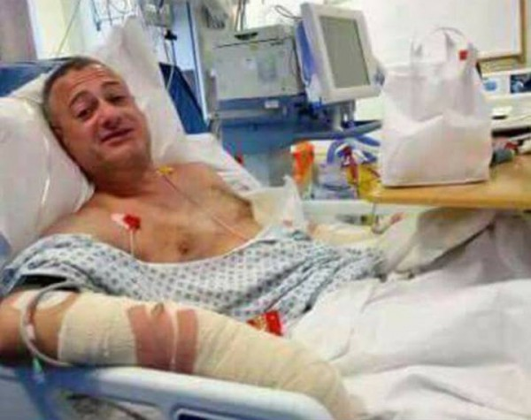 Roy Larner almost died fighting off the London attackers in a pub.