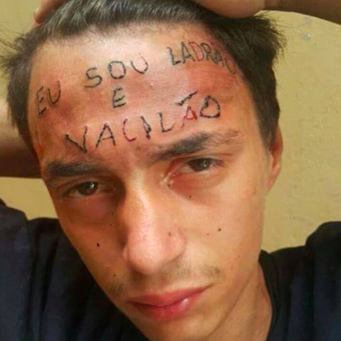 Brazil Teenager Inked on Forehead