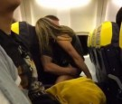 Ryanair passengers got a little frsiky on the way to Spain.