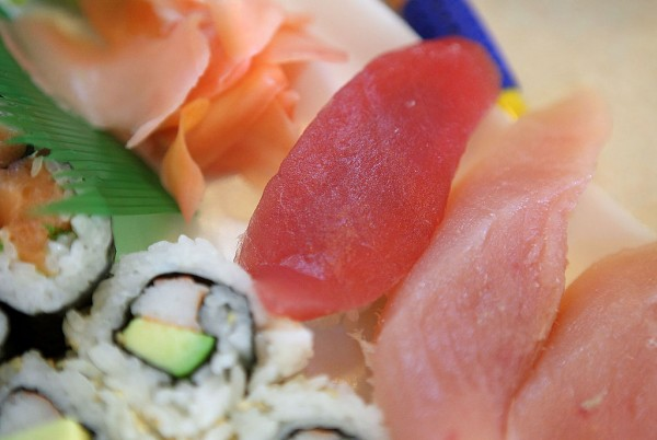 A piece of Bluefin Tuna (Maguro)