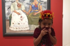 This Little Frida Kahlo-Impersonator Is Excited for the Big Birthday Celebration