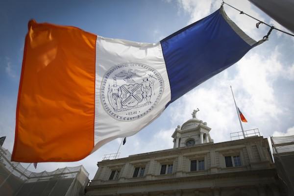 New York City flag City Hall