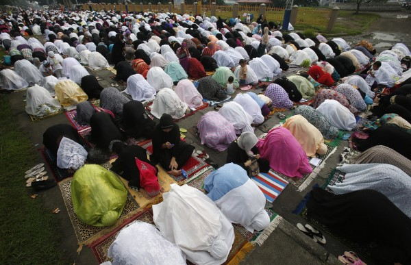 Muslims all over the world pray in thanksgiving.