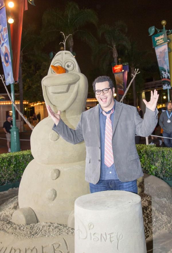 Josh Gad Visits Disneyland