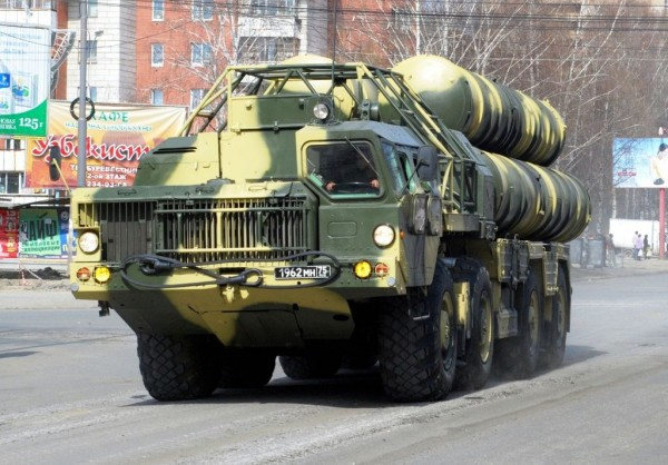 A Russian S-300 Missile Defense System on Parade