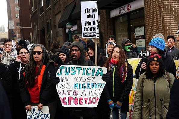 Immigration Activists Demonstrate Against Deportations