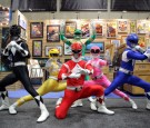 The iconic Mighty Morphin Power Rangers strike a pose at San Diego Comic-Con International on July 26, 2014 in San Diego, CA.